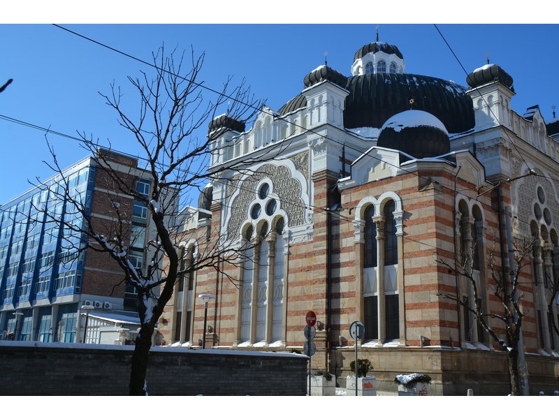 Sinagoga in stile moresco con influenze veneziane.